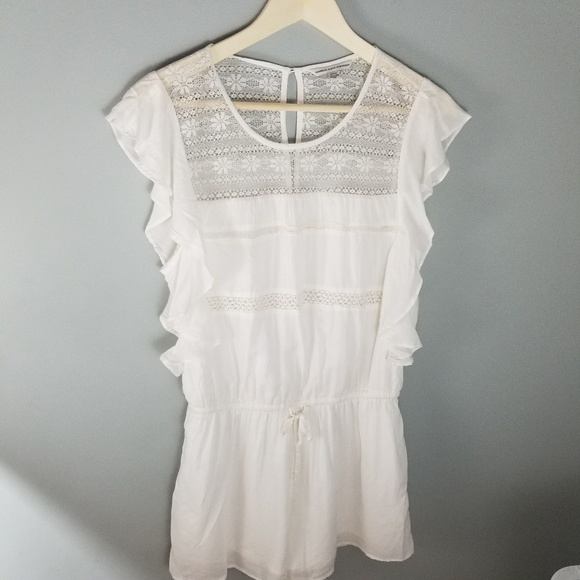 f22e50fe91f6 American Eagle Outfitters ivory lace romper sz M